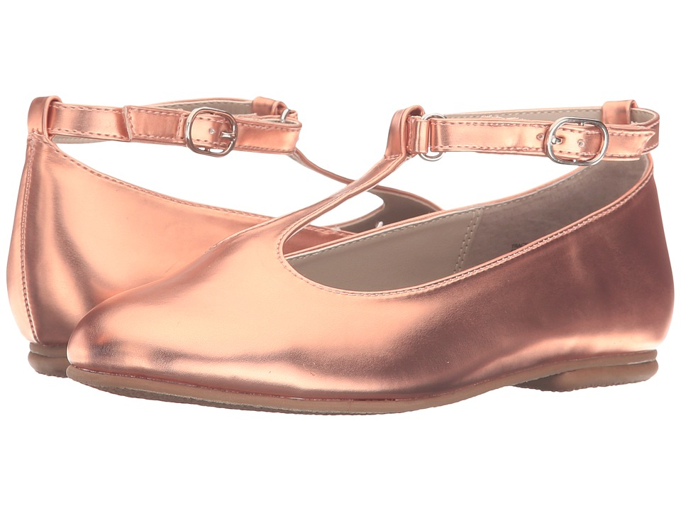 Jumping Jacks Kids - Balleto - Tracy (Toddler/Little Kid/Big Kid) (Rose Gold Shiny) Girls Shoes