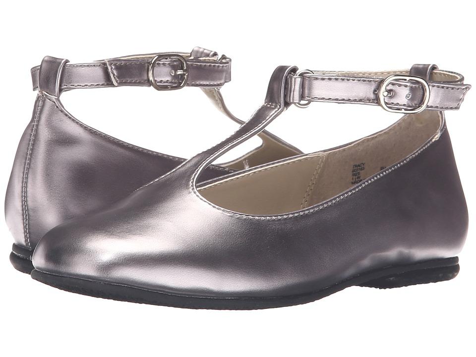 Jumping Jacks Kids - Balleto - Tracy (Toddler/Little Kid/Big Kid) (Pewter Shiny) Girls Shoes