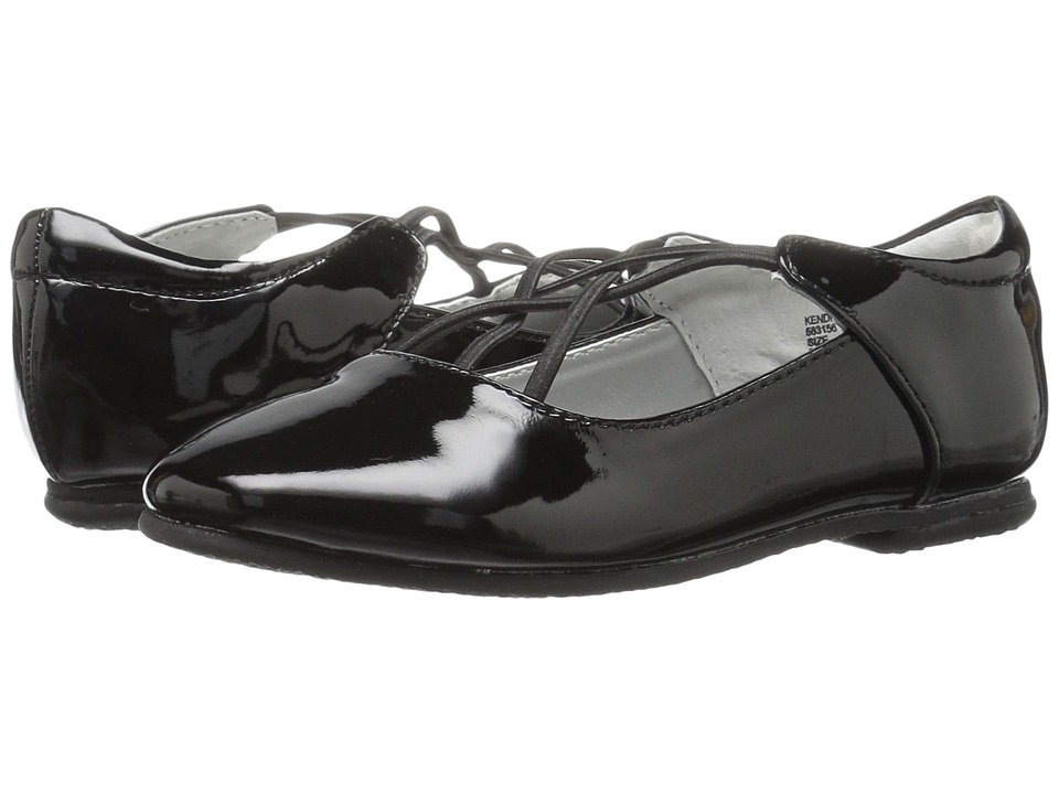 Jumping Jacks Kids - Balleto - Kendra (Toddler/Little Kid/Big Kid) (Black Shiny) Girls Shoes