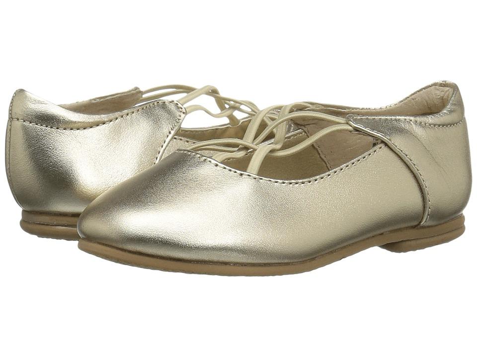 Jumping Jacks Kids - Balleto - Kendra (Toddler/Little Kid/Big Kid) (Gold Metallic Leather) Girls Shoes