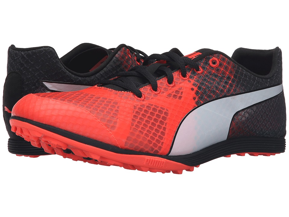 PUMA - EvoSPEED Crossfox Spikeless V3 (Red Blast/Puma Black/Puma White) Athletic Shoes
