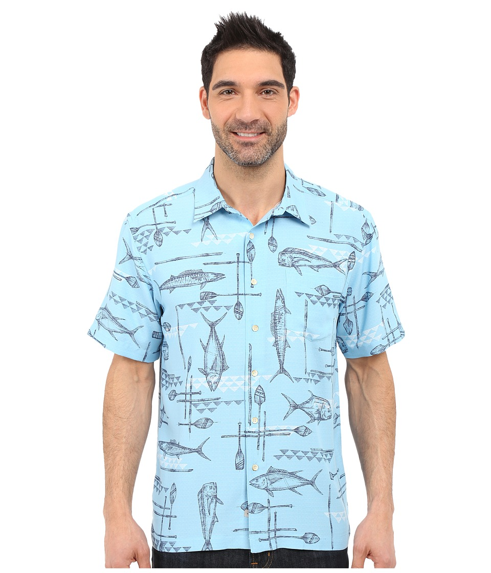 Quiksilver Waterman - Small Kine Short Sleeve Woven Shirt (Clean Air) Men's Short Sleeve Button Up