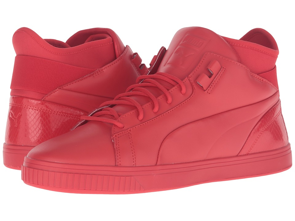 PUMA - Play Prm (High Risk Red) Men's Court Shoes