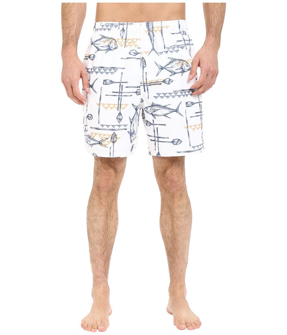 Quiksilver Waterman - West Palm Volley Boardshorts (White) Men's Swimwear
