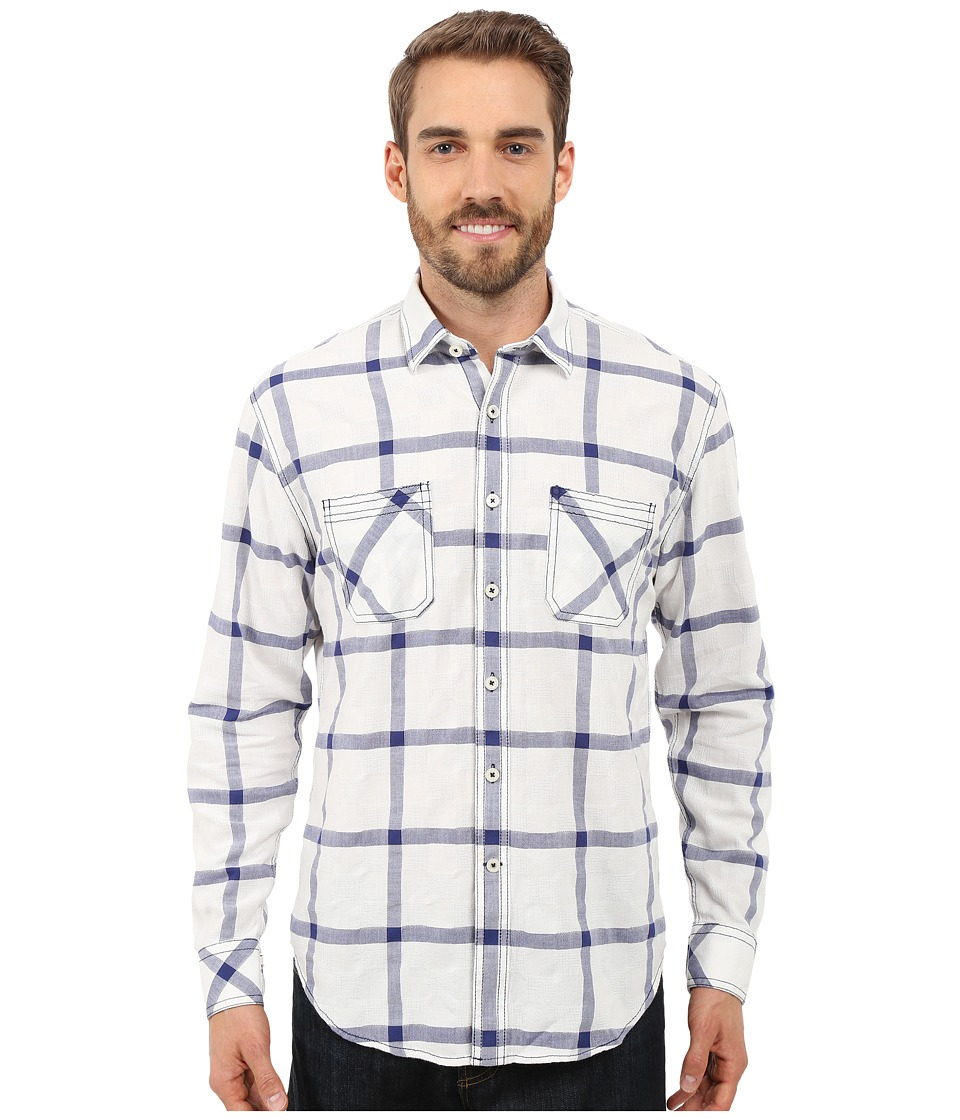 James Campbell - Miles Long Sleeve Woven (Navy) Men's Long Sleeve Button Up