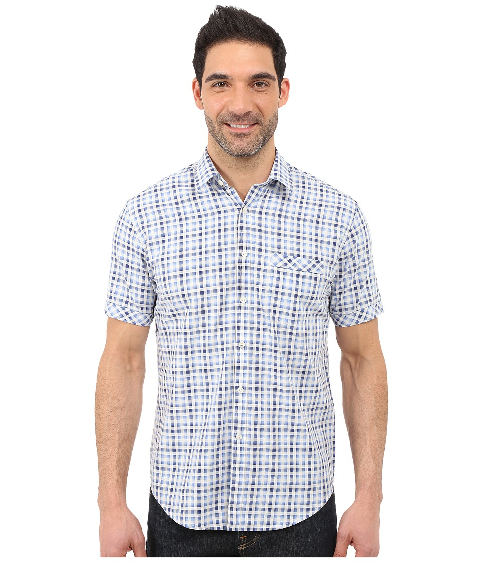 James Campbell - Dodo Short Sleeve Woven (Blue) Men's Clothing