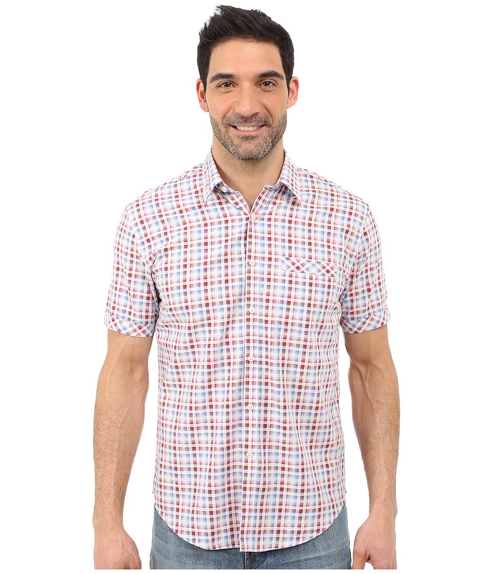James Campbell - Dodo Short Sleeve Woven (Red) Men's Clothing