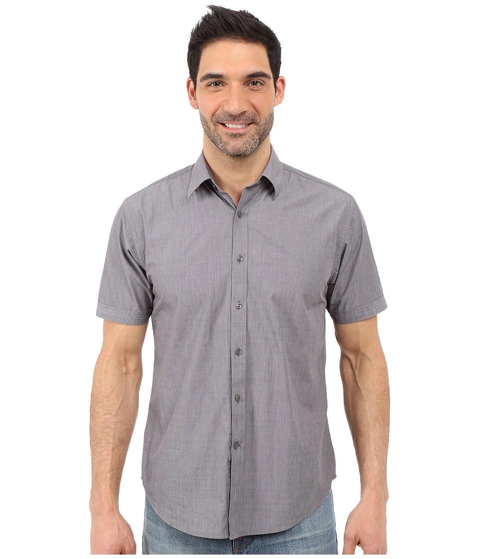 James Campbell - Liano Short Sleeve Woven (Black) Men's Short Sleeve Button Up