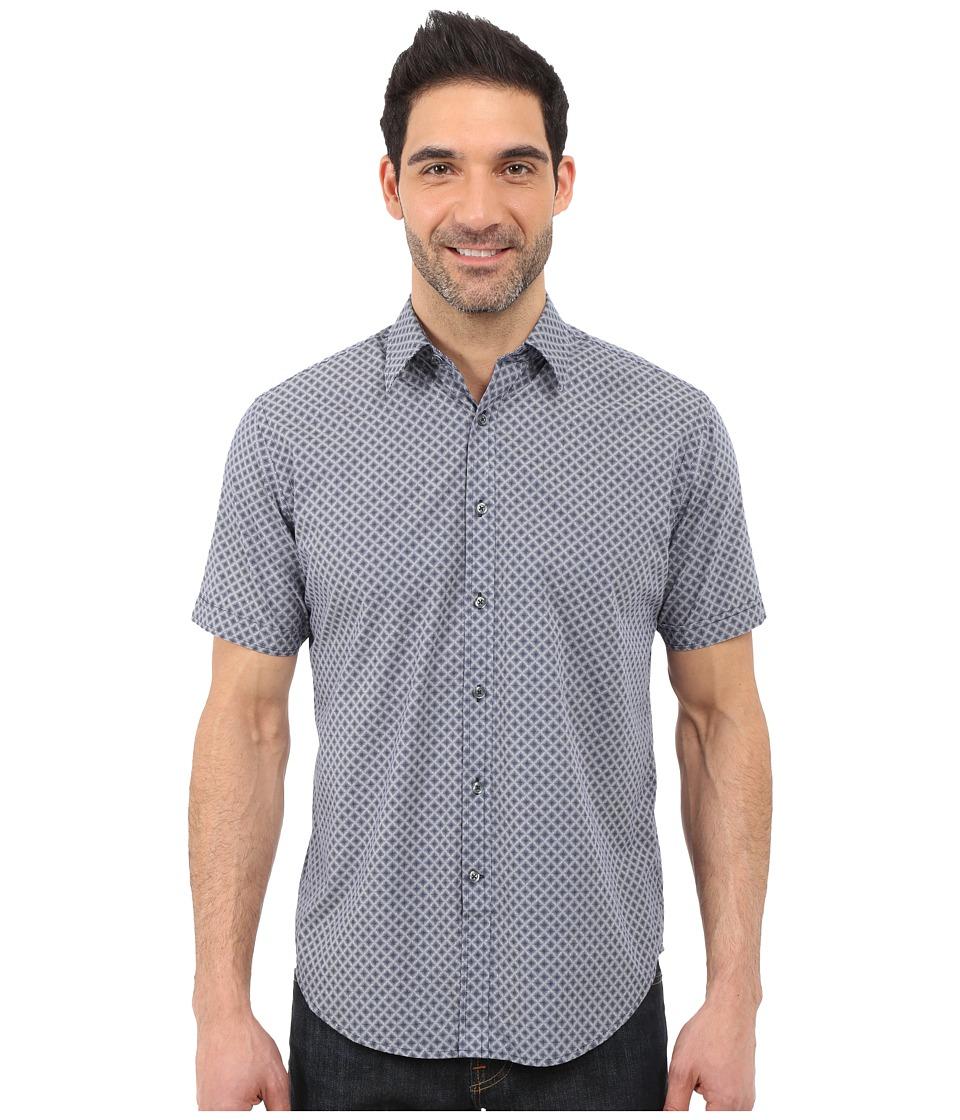 James Campbell - Gaines Short Sleeve Woven (Navy) Men's Short Sleeve Button Up