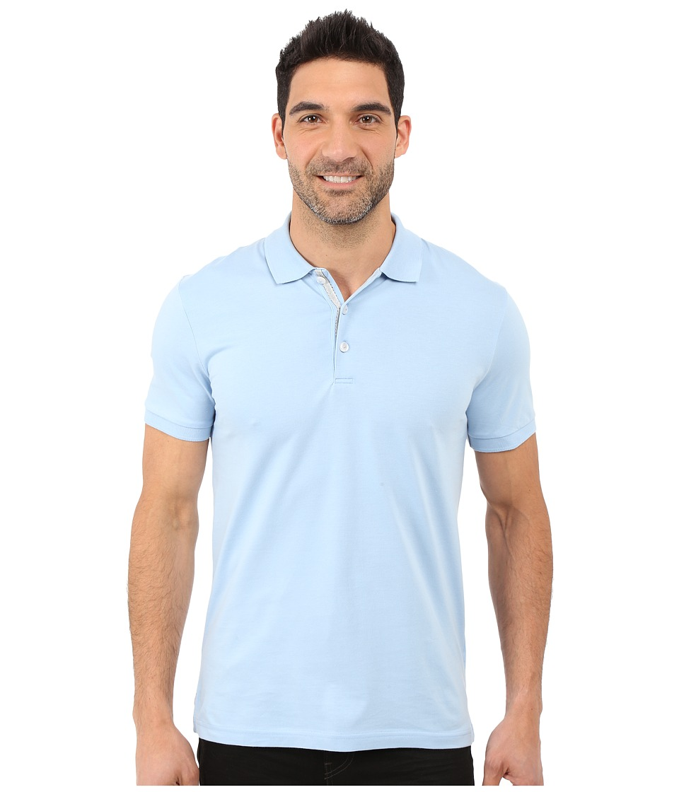James Campbell - Laguna Polo (Sky) Men's Short Sleeve Knit