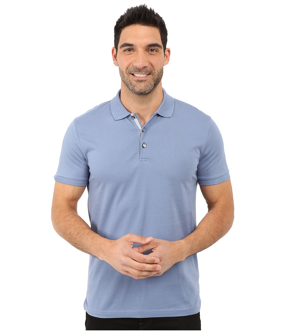 James Campbell - Laguna Polo (Denim) Men's Short Sleeve Knit