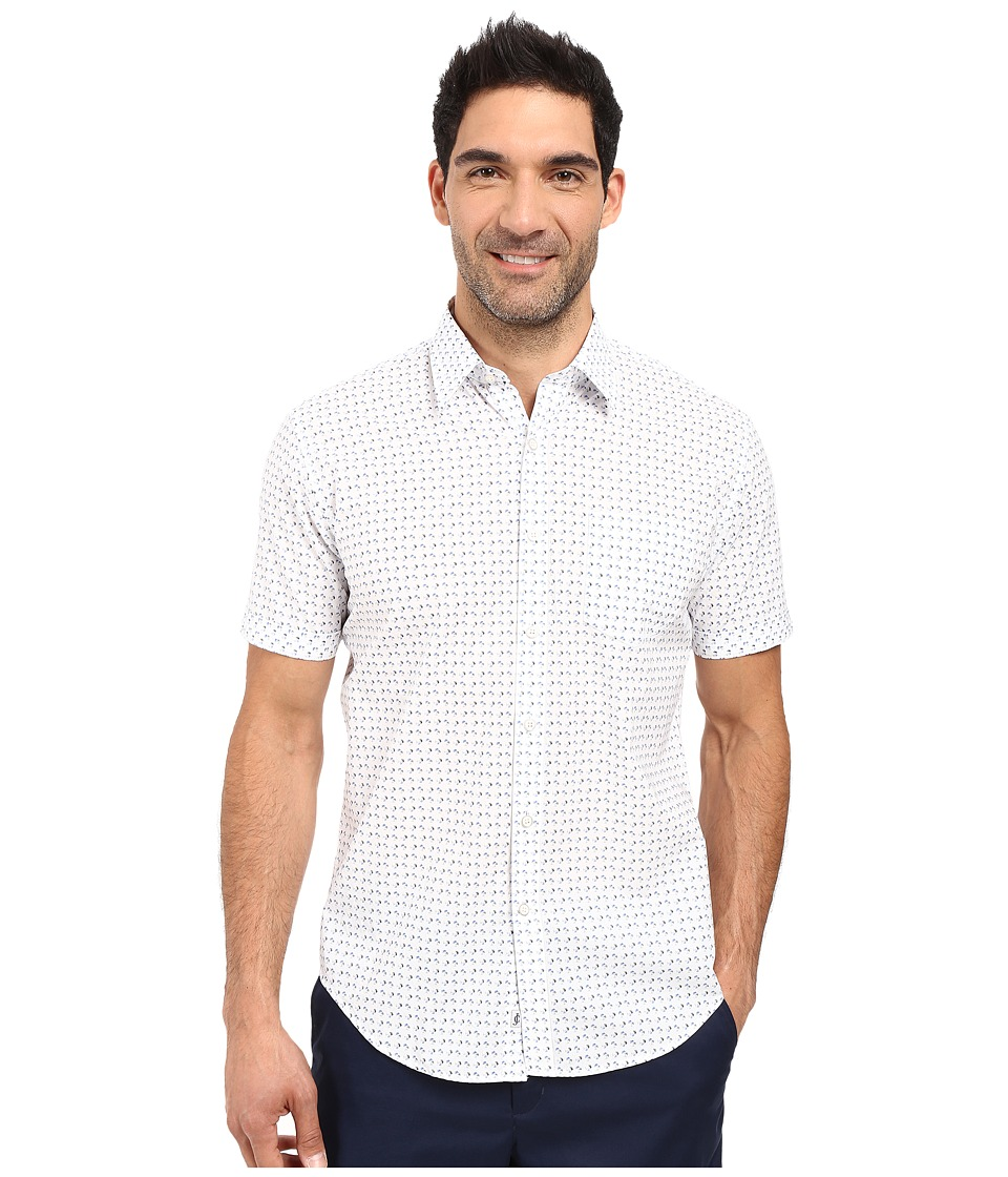 James Campbell - Bixby Short Sleeve Woven (White) Men's Short Sleeve Button Up
