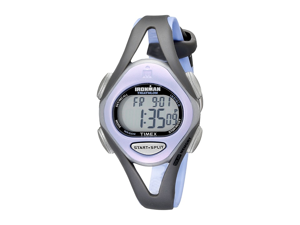 Timex - Ironman 50 Lap Sleek Mid (Grey/Purple) Sport Watches
