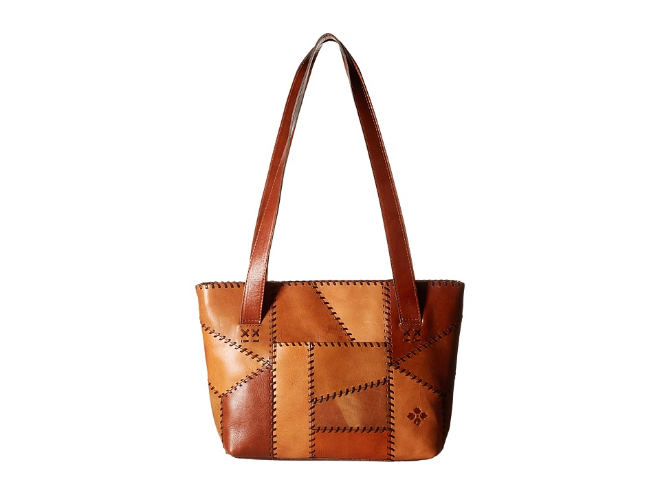 Patricia Nash - Nevoso Double Zip Tote (Patchwork Tan) Tote Handbags