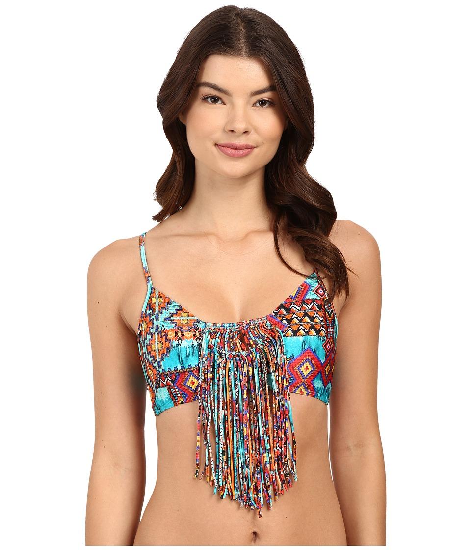 Luli Fama - Wild Free Weave Sporty Bra (Multi) Women's Swimwear