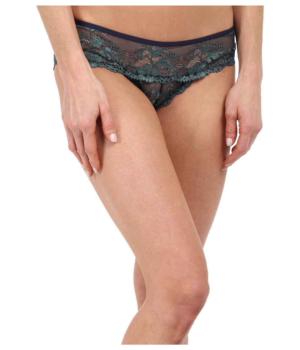 Free People - Wild Roses Hipster Undie (Navy Seamist Combo) Women