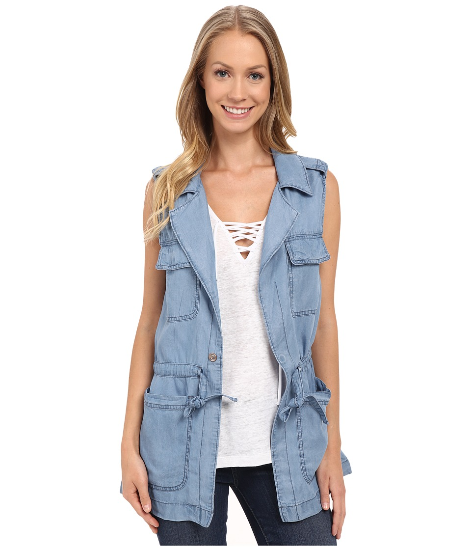 Sanctuary - Explorer Vest (Sun Bleach Blue) Women's Vest