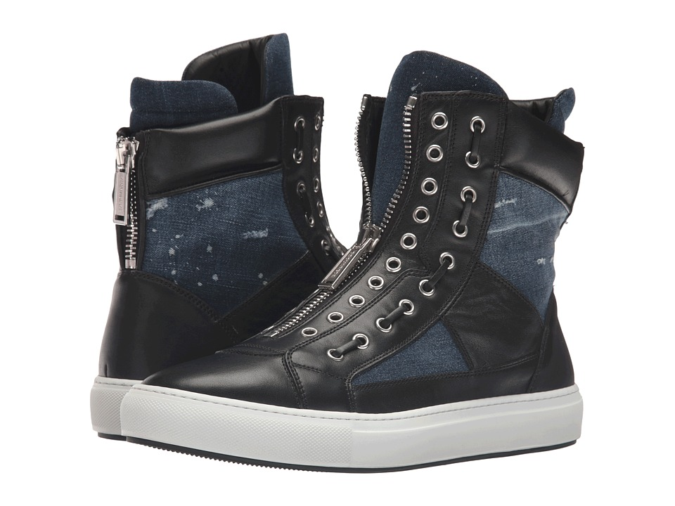 DSQUARED2 - Asylum Denim High Top (Nero Blue) Men's Shoes