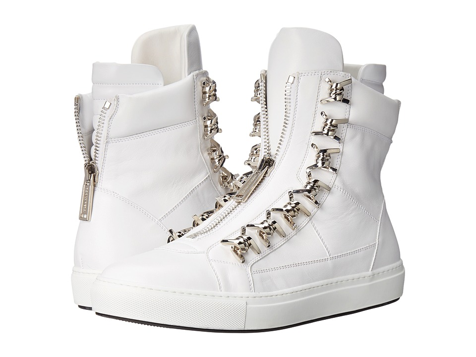 DSQUARED2 - Babe Wire High Top Sneaker (Bianco Palladio) Men's Shoes