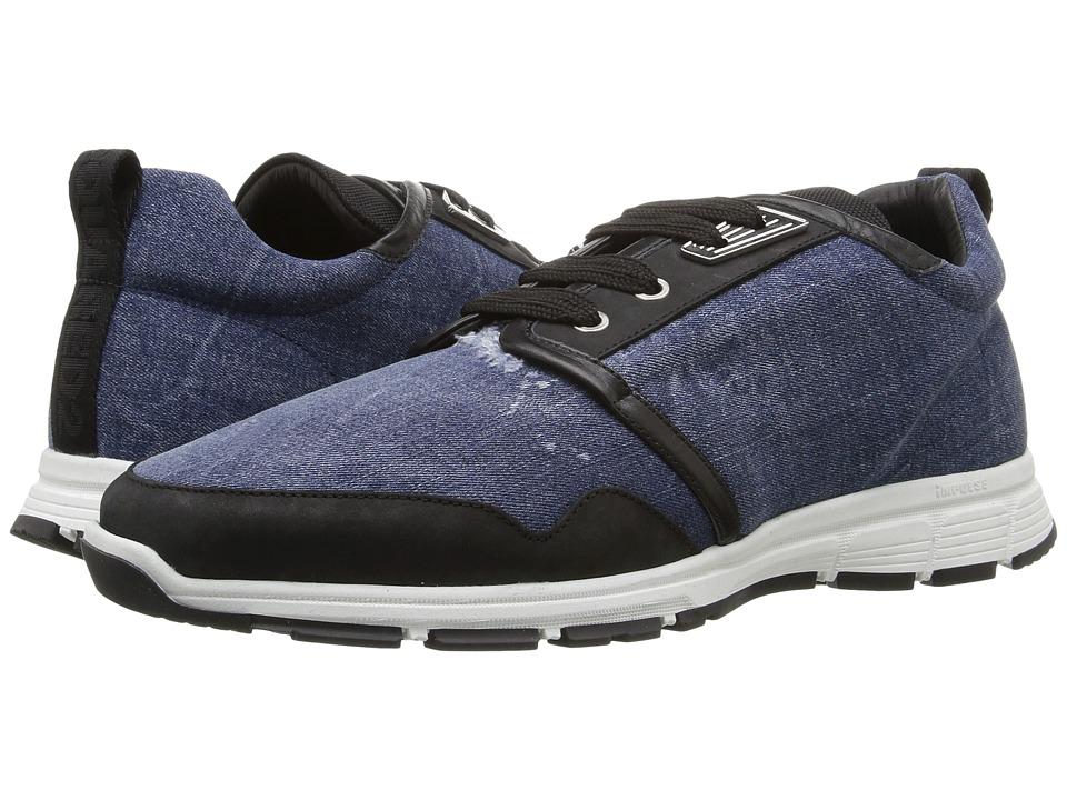 DSQUARED2 Marte Run Strap Sneaker (Blue) Men
