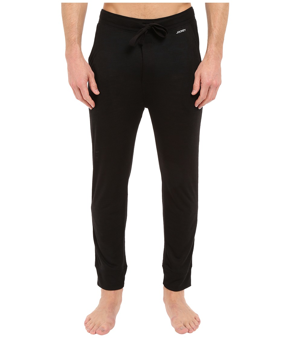 Jockey - Jogger Lounge Pants (Black) Men's Pajama