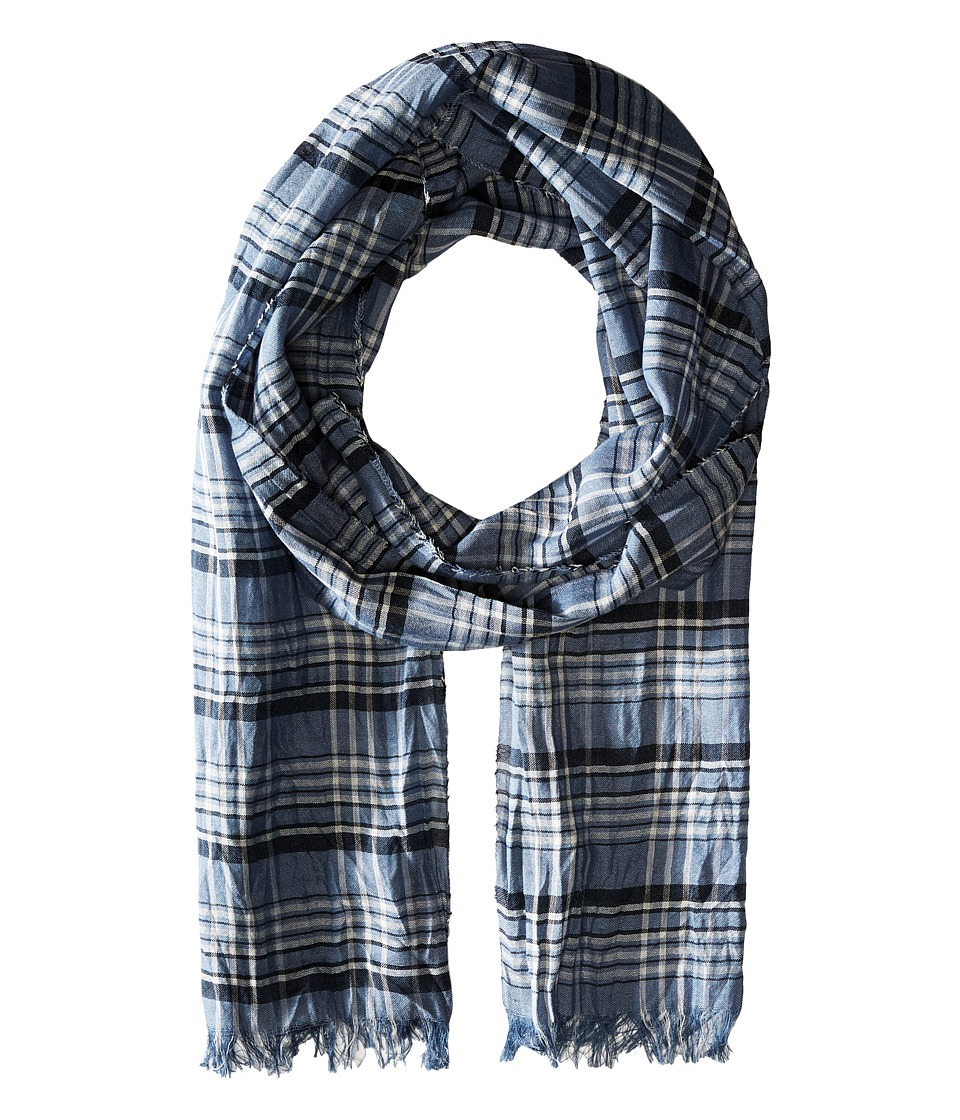 John Varvatos Star U.S.A. - Plaid Scarf (Ocean) Scarves