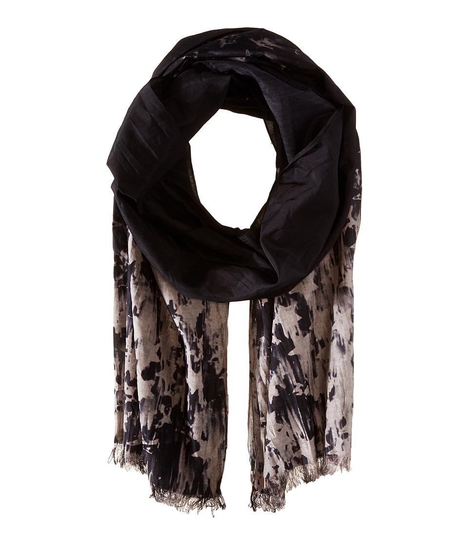 John Varvatos Star U.S.A. - Ombre Star Scarf (Charcoal) Scarves