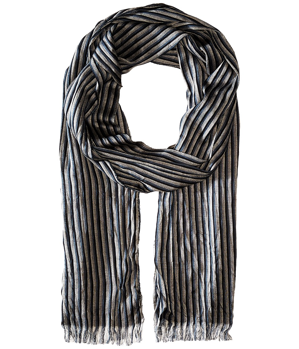 John Varvatos Star U.S.A. - Fine Stripe Scarf (Blue Smoke) Scarves