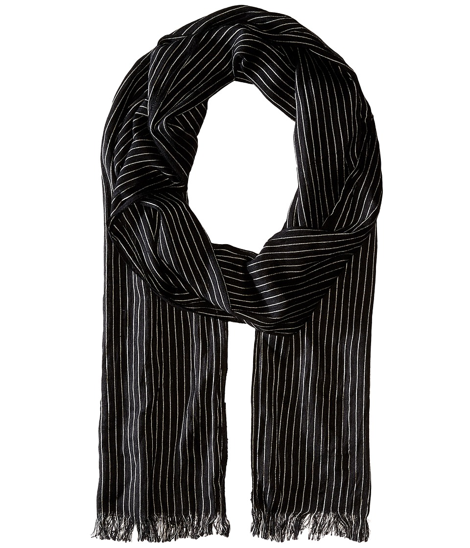 John Varvatos Star U.S.A. - Pin Stripe Scarf (Charcoal) Scarves