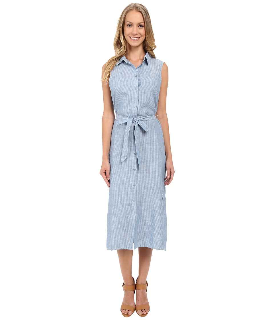 Sanctuary Everly Midi Shirtdress (Indigo Stripe) Women