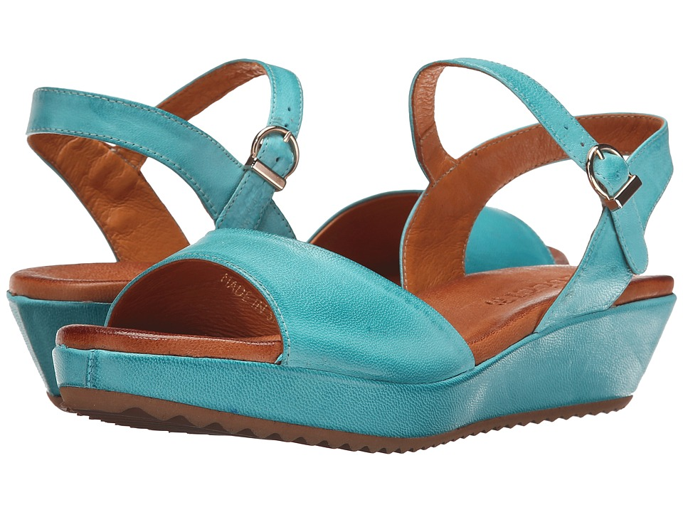 Sesto Meucci - 325 (Turquoise Cesa Kid) Women's Wedge Shoes