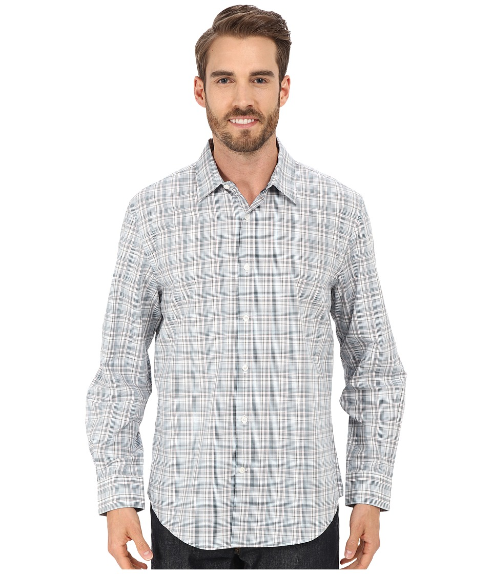 Perry Ellis - Multi Color Plaid Shirt (Chromite) Men's Clothing