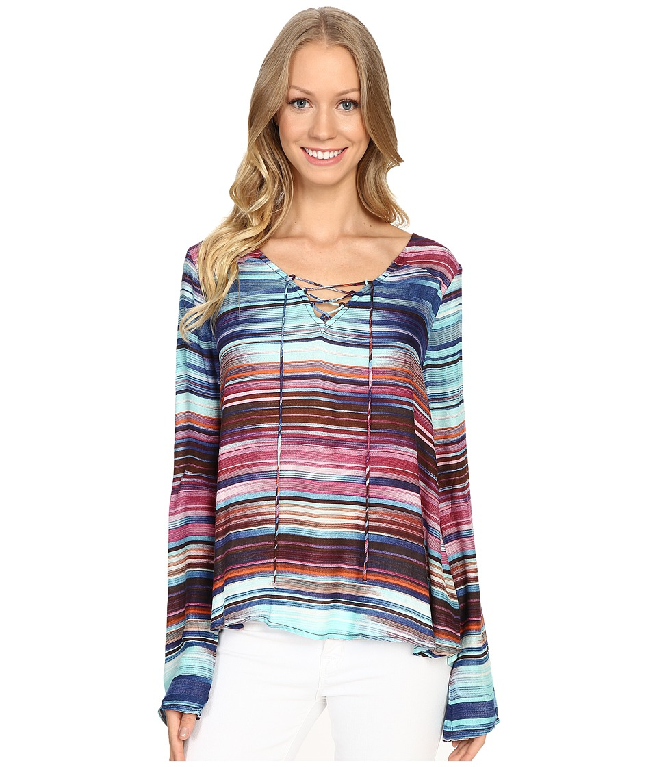 Sanctuary - Kinsley Lace-Up Top (Magic Hour) Women's Clothing