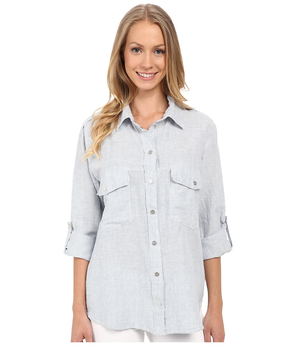 Sanctuary - Boyfriend Shirt (Sunbleached Stripe) Women's Clothing