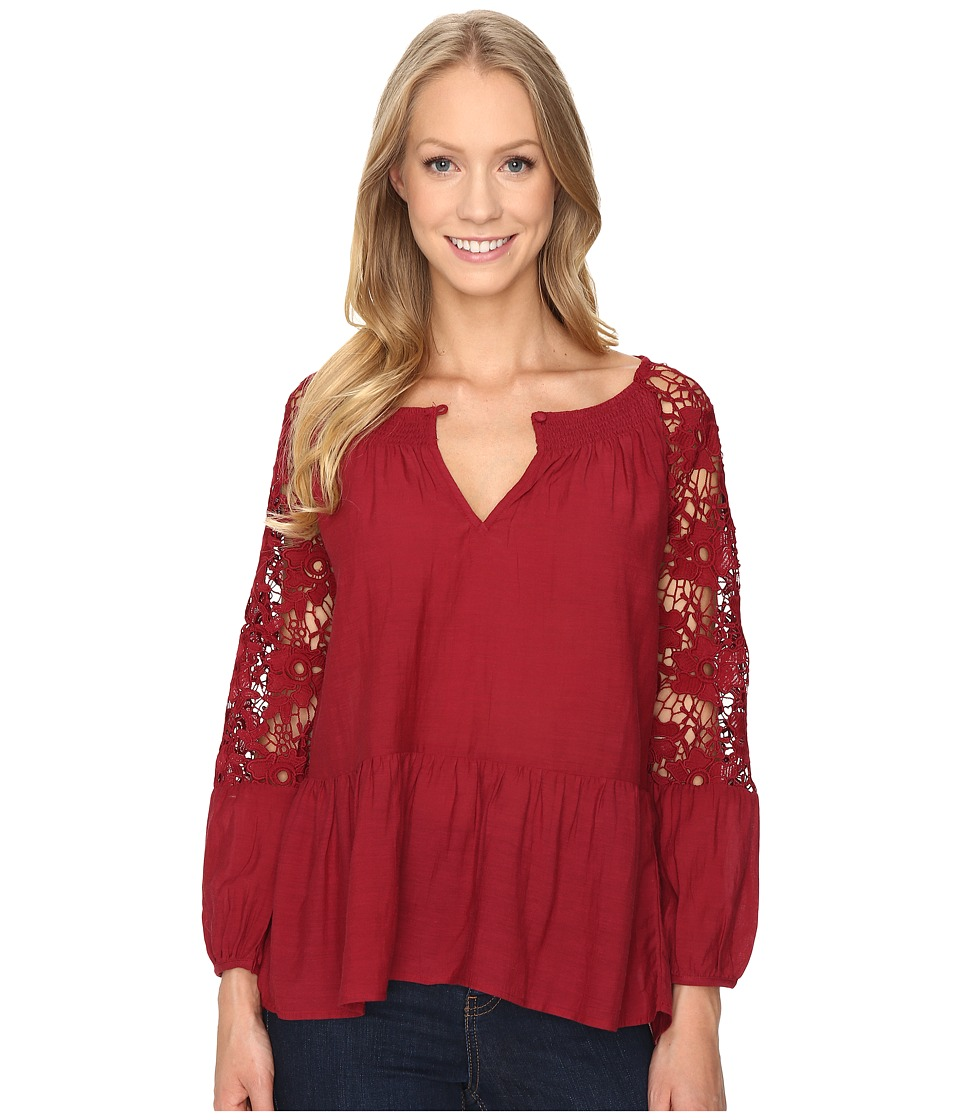 Sanctuary - Gwen Top (Boheme Red) Women's Clothing