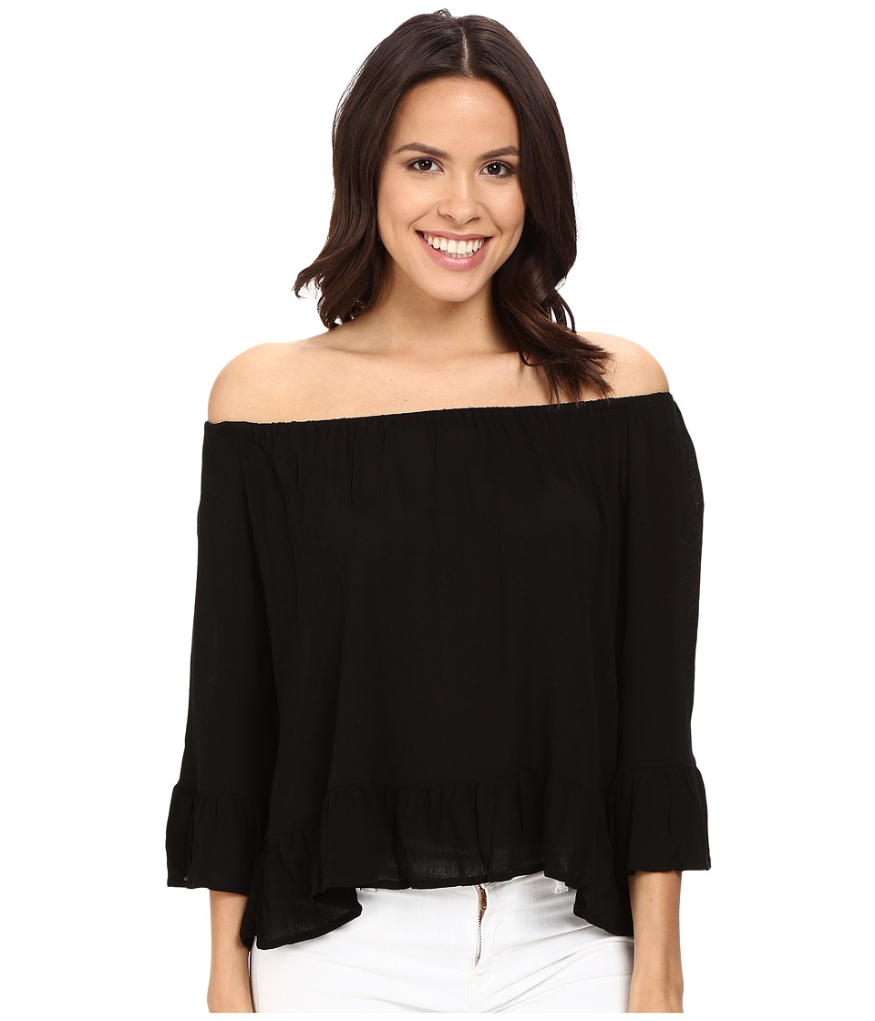 Sanctuary - Julia Top (Black) Women's Clothing