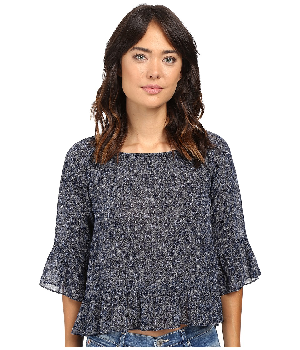 Sanctuary - Julia Top (Indigo Mandala) Women's Clothing