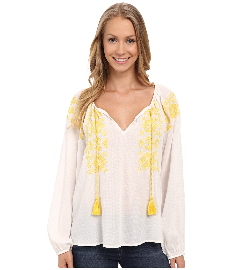 Sanctuary - Sunflower Peasant Top (White) Women's Clothing