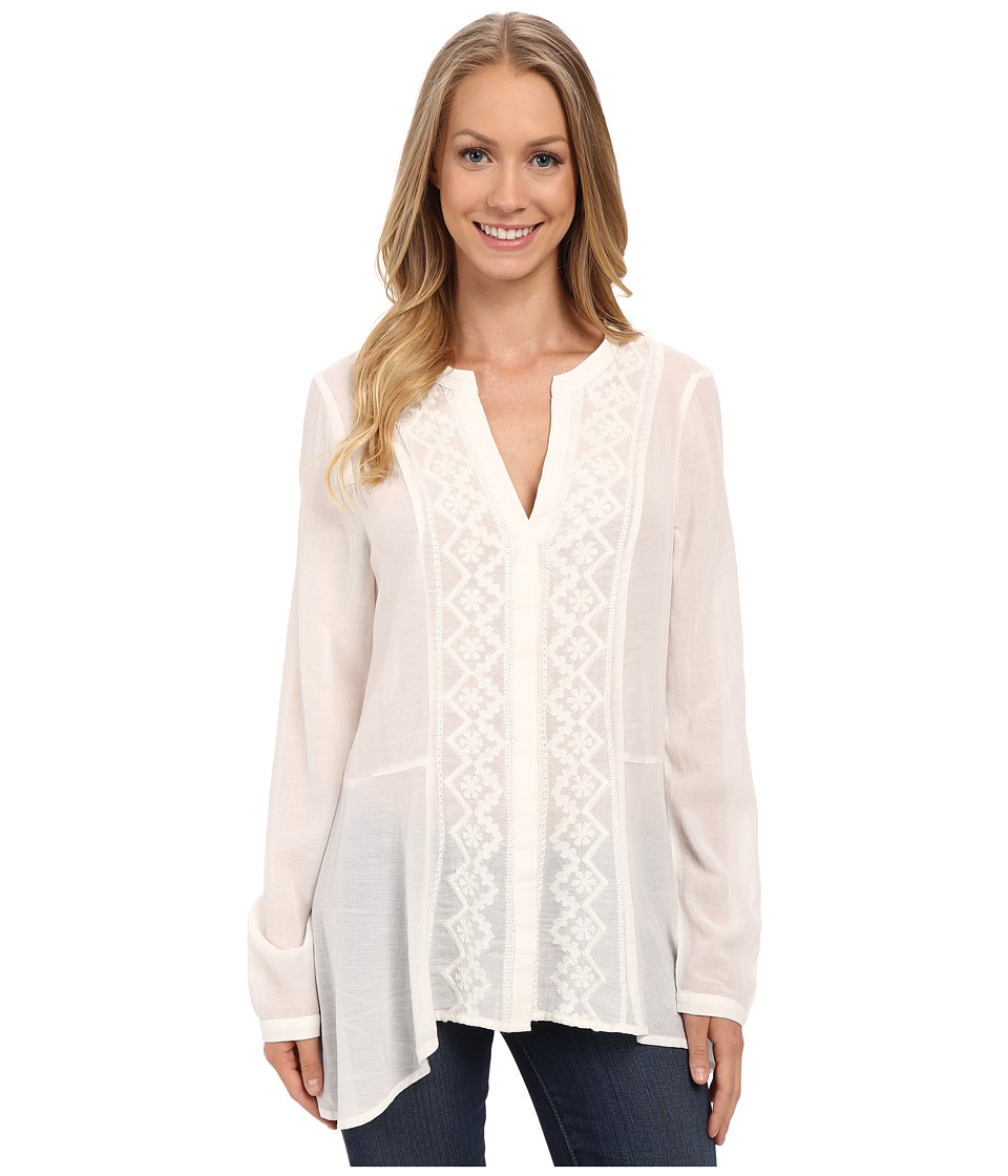 Sanctuary - Lost in Paris Craft Top (White) Women's Clothing