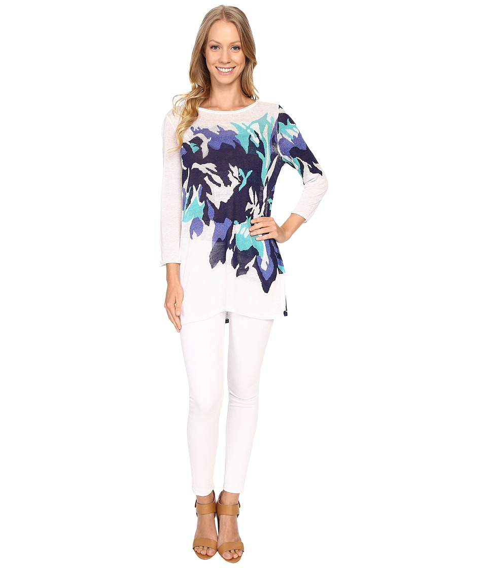 NIC+ZOE - Hibiscus Bloom Tunic (Multi) Women's Clothing