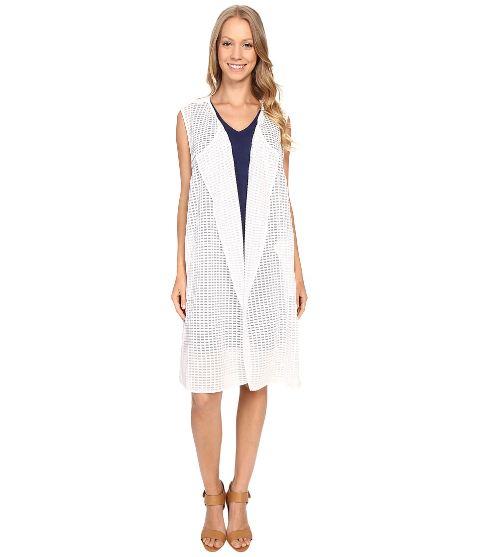 NIC+ZOE - Draped Grid Vest (Paper White) Women's Vest