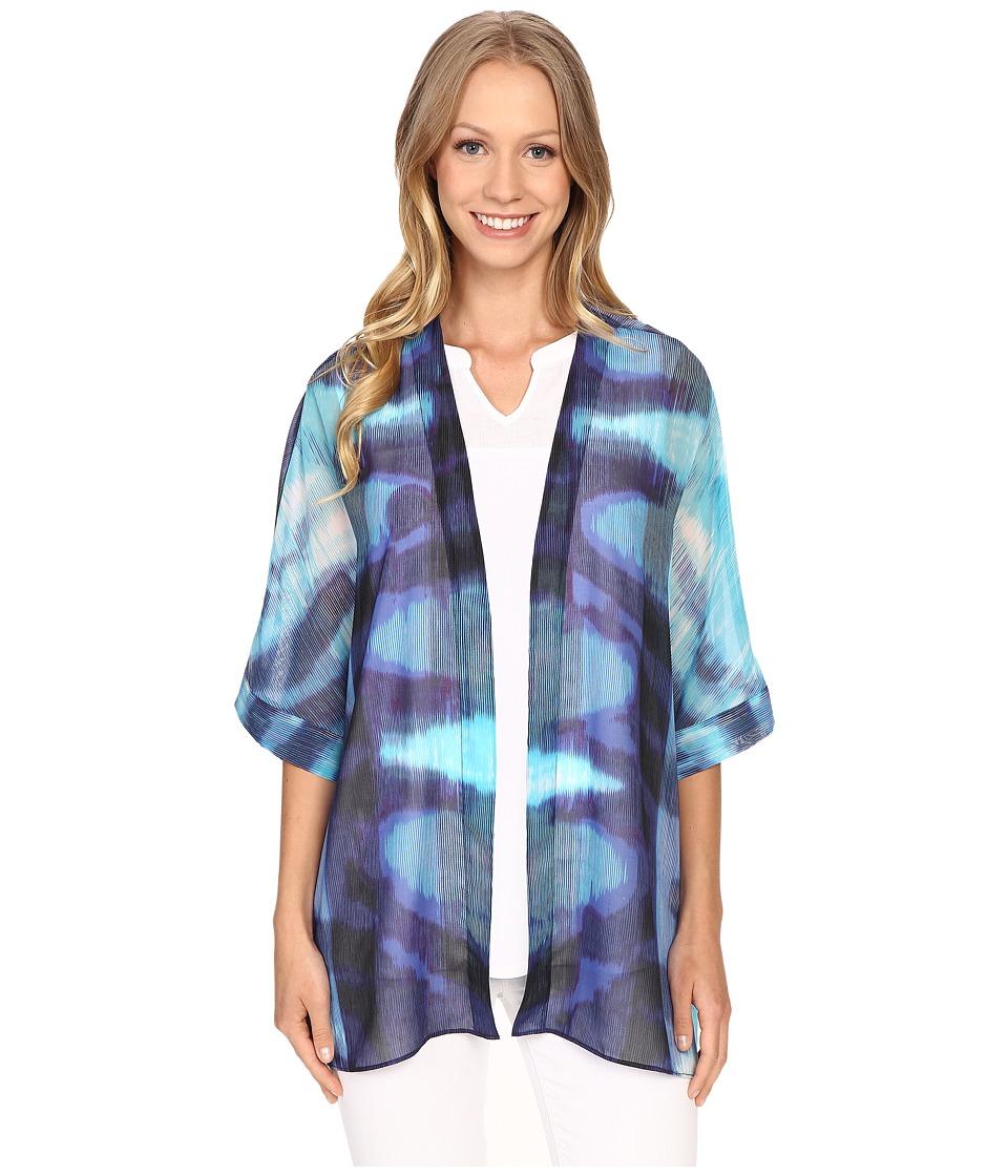NIC+ZOE - Blue Lagoon Kimono (Multi) Women's Clothing