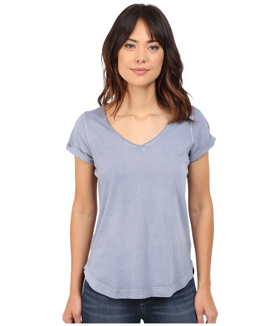Splendid - Vintage Whisper V-Neck Tee (Vintage Blue Ash) Women's T Shirt