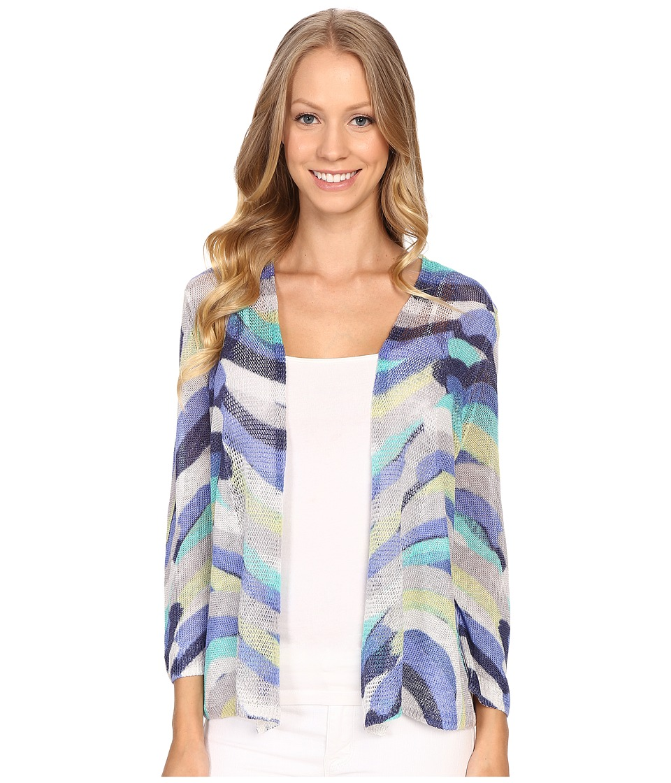 NIC+ZOE - Stripe Scope Cardy (Multi) Women's Sweater