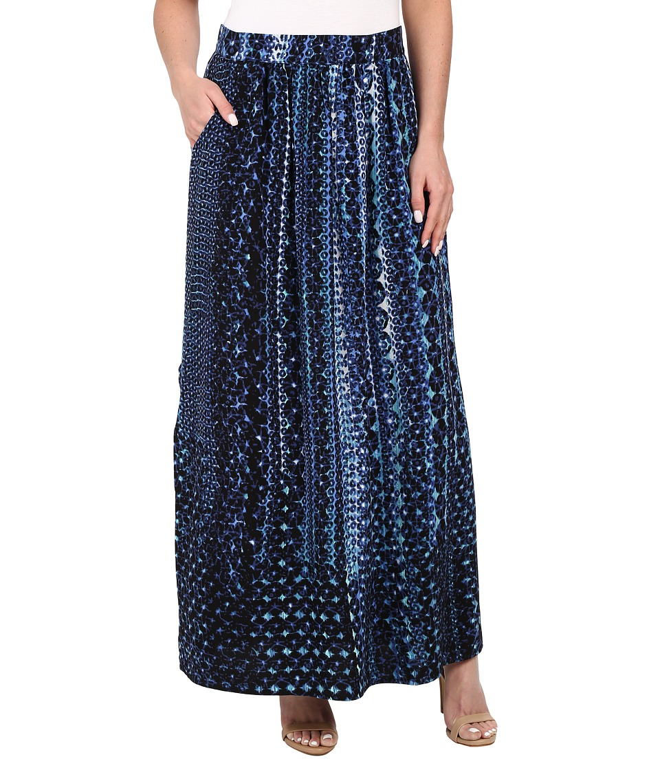 NIC+ZOE - Fountain Handpainted Maxi Skirt (Multi) Women's Skirt