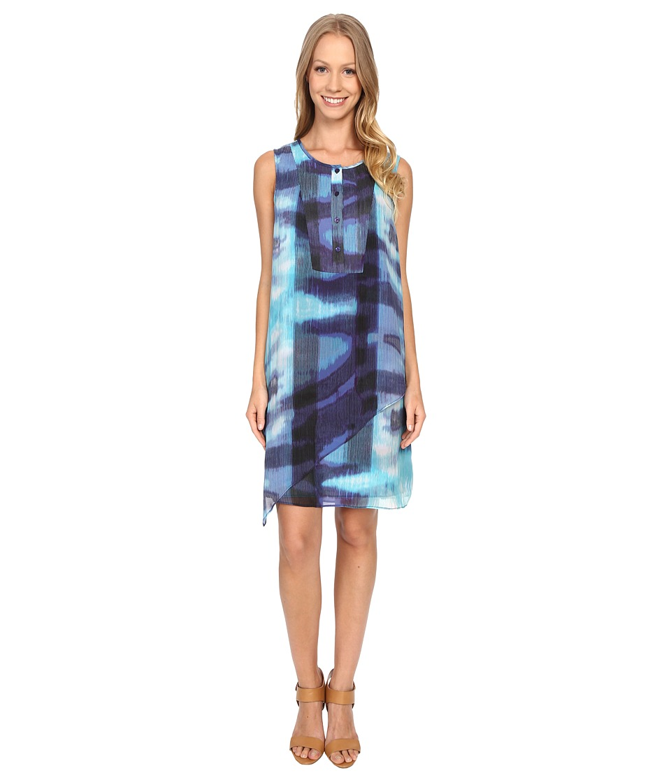 NIC+ZOE - Blue Lagoon Tunic Dress (Multi) Women's Dress