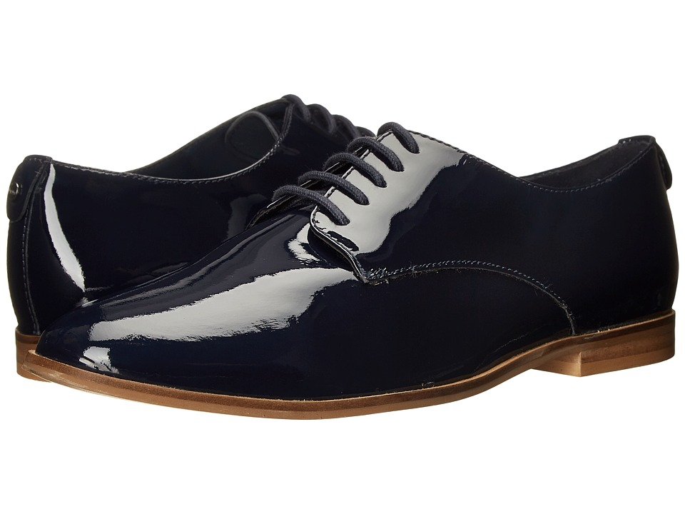Dune London - Flossy (Navy Patent) Women's Lace up casual Shoes
