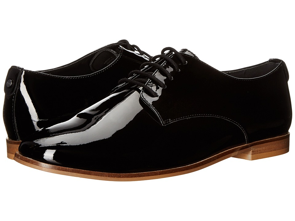 Dune London - Flossy (Black Patent) Women's Lace up casual Shoes