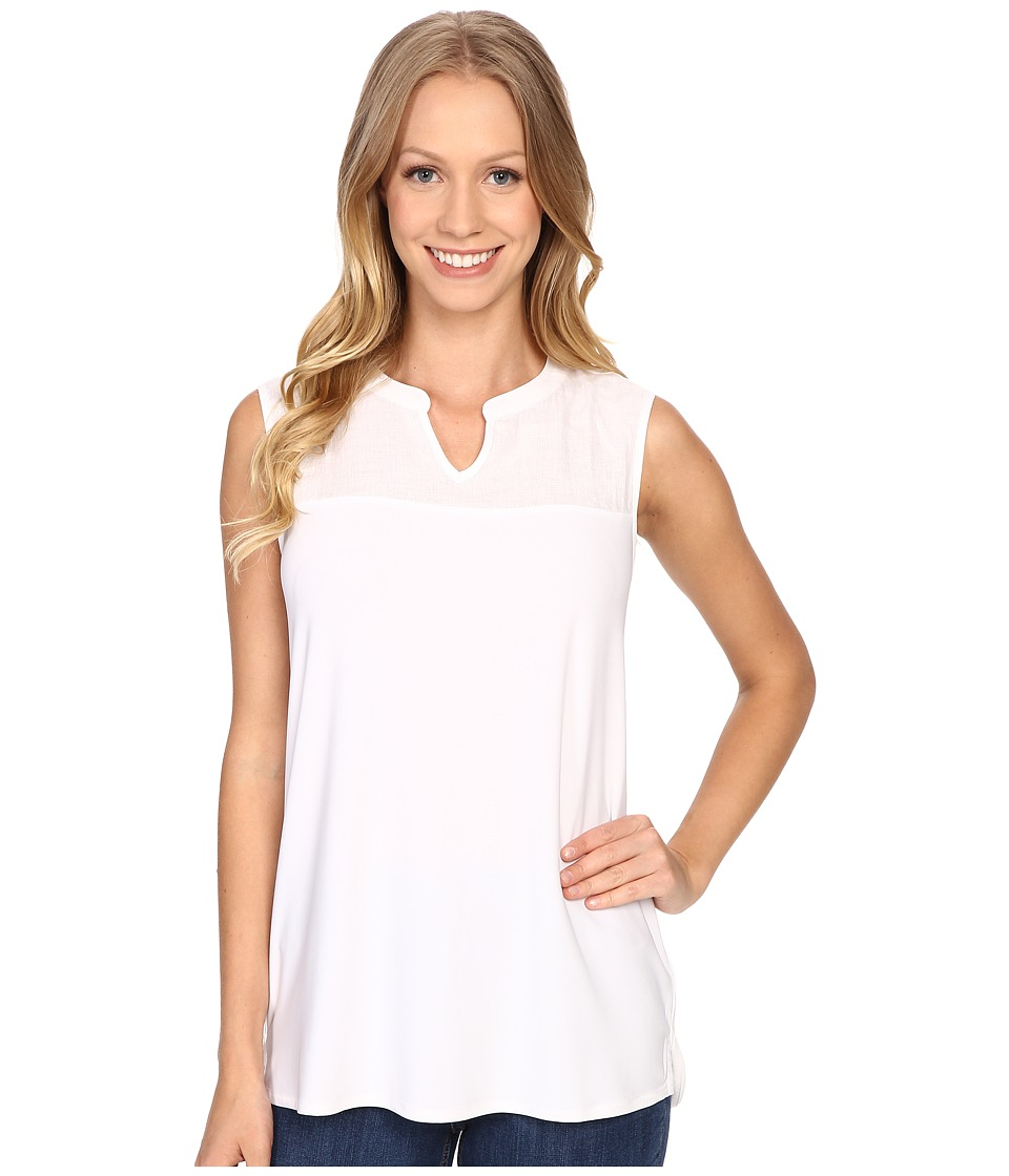 NIC+ZOE - Luxe Jersey Mixed Top (Paper White) Women's Clothing