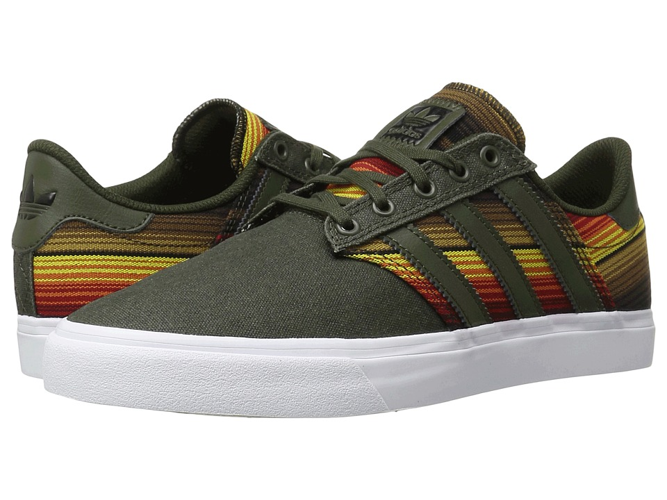 adidas Skateboarding - Seeley Premiere Continents (Olive Cargo/White/Craft Chili) Men's Skate Shoes